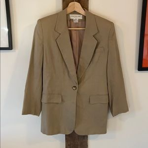 Vintage Lightweight Tan Blazer - Long